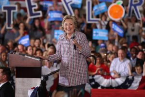 Hillary Clinton rallies support in Coral Springs