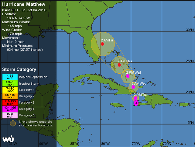 Hurricane Matthew threatens MSD