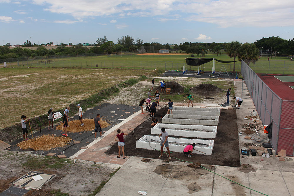 Marjory's Garden unites clubs, teachers and students