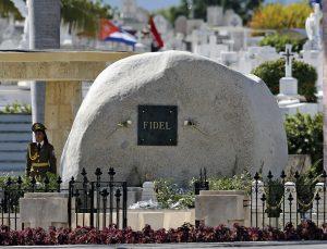 The tomb of Fidel Castro at the Cemeterio Santa Ifigenia in Santiago de Cuba on December 4, 2016. (Al Diaz/Miami Herald/TNS)