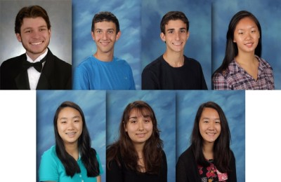 Clockwise: Max Baron, Brandon Dubner, Drew Fletcher, Katherine Liu, Jessica Pan, Elisabeth Rodrigues and Joanna Zhuang