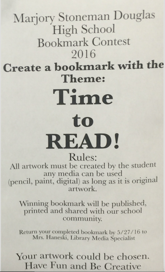 Media Center hosts bookmark contest