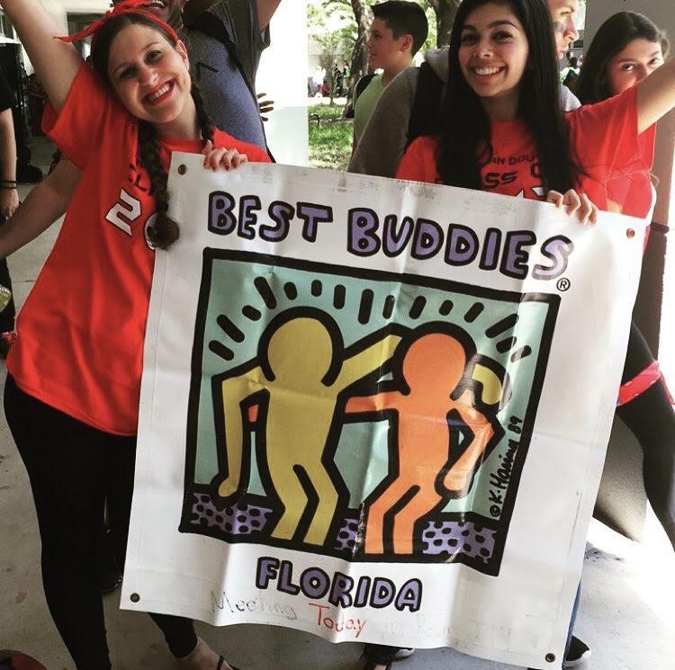 Club members promoting Best Buddies