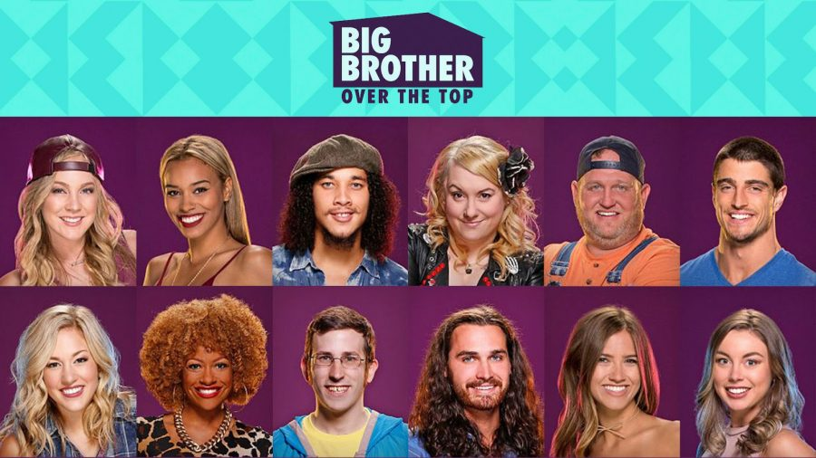 Big Brother: Over the Top Promotional Poster with cast.