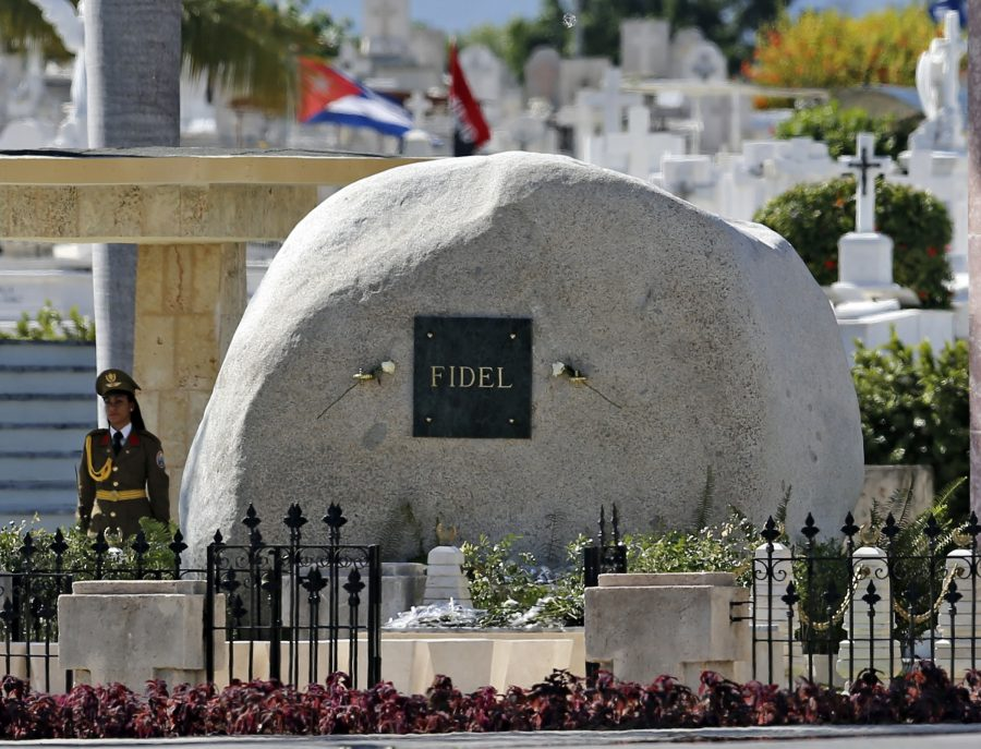 The tomb of Fidel Castro at the Cemeterio Santa Ifigenia in Santiago de Cuba on December 4, 2016. (Al Diaz/Miami Herald/TNS)