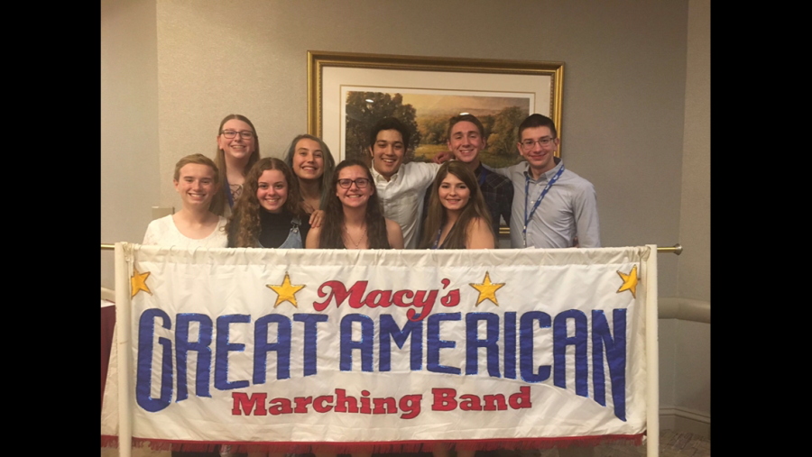 Sophomore Angelina Brier was one of 185 musicians that performed with the Great American Marching Band in the Thanksgiving Day Parade. Photo courtesy of Theresa Brier.