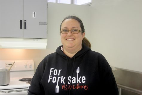 Culinary arts teacher Ashley Kurth shares her story from Feb. 14. Photo by Mallory Muller