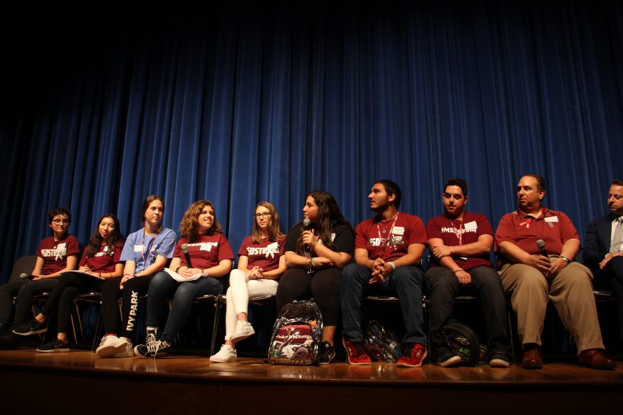 MSD students speak at panel. Photo by Suzanna Barna