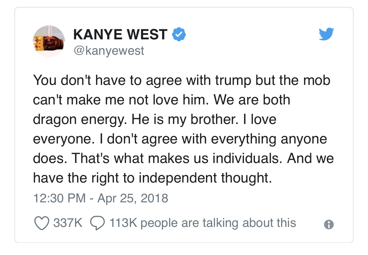 09f7638fac4a Tweet by rapper Kanye West causes controversy – The Eagle Eye