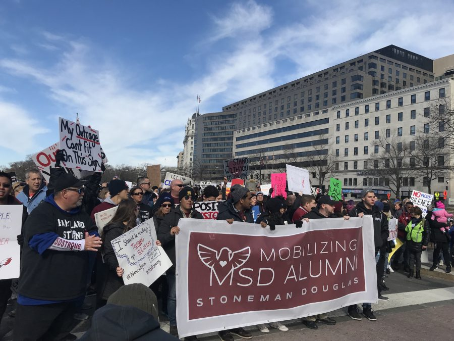 Mobilized Marchers. MSD Alumni walk down Pennsylvania Ave at the March For Our Lives in Washington, D.C. Photo courtesy of Mobilizing MSD Alumni