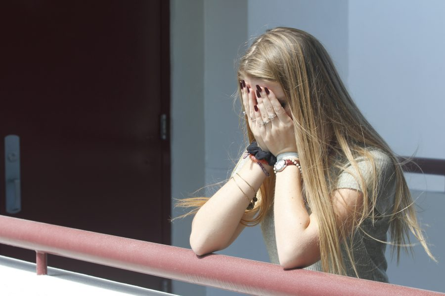 The Many Faces of Trauma. Students feel stress and experience trauma frequently at MSD. Photo illustartion by Nyan Clarke