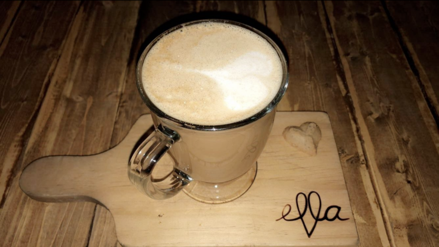 Hazelnut-ella Latte available at Ella Cafe. Photo courtesy of Nadia Murillo.