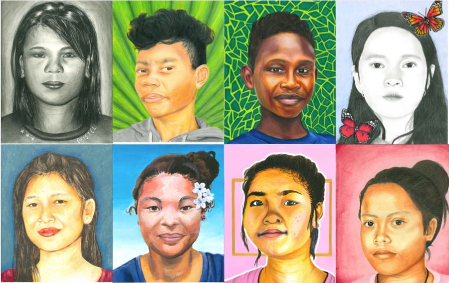 MSD students create portraits for impoverished teens