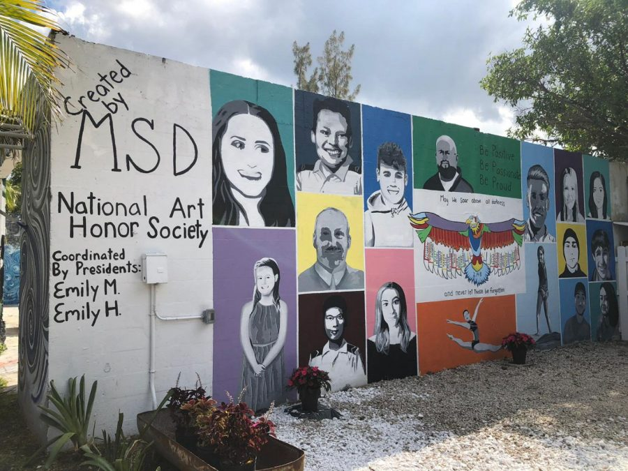 National Art Honor Society reveals their memorial mural after nearly a year of work on the project. It is located in Wilton Manors, Florida.