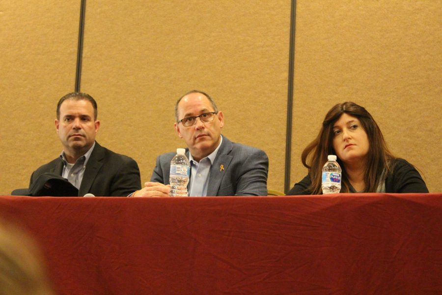 Fred Guttenberg sits on a panel of survivors on Tuesday, April 2 at the Ft. Lauderdale Marriott. Photo by Brianna Jesionowski
