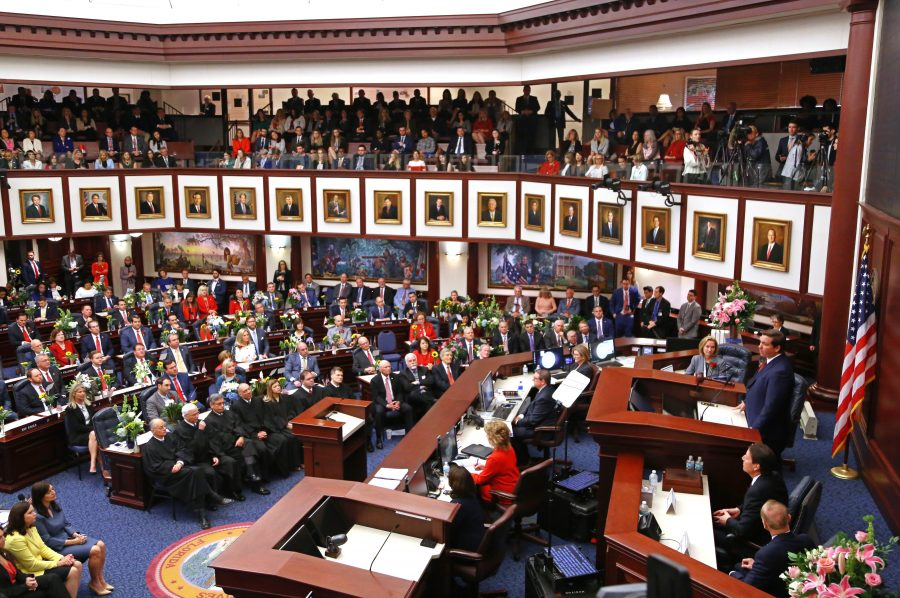 +Back+in+Session.+Florida+Gov.+Ron+DeSantis+addresses+a+joint+session+of+the+Florida+Legislature+in+Tallahassee%2C+Florida+on+March+5.+Photo+courtesy+of++Scott+Keeler%2FTampa+Bay+Times+