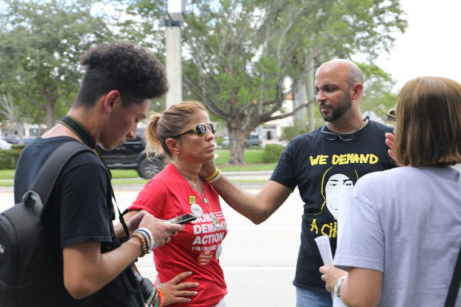 Recent shootings in America inspire rally at local Parkland Walmart