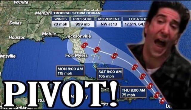 Internet produces Hurricane Dorian memes