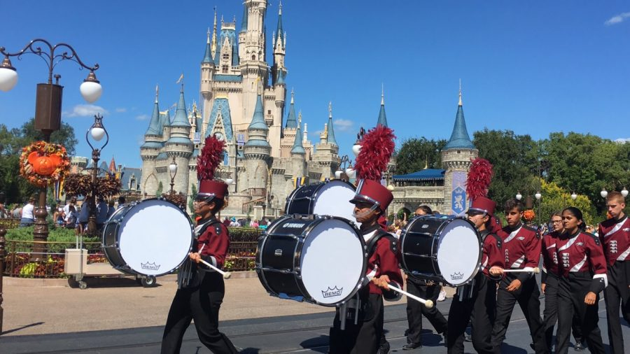 Eagle Regiment wins fifth place in competition and marches in Disney parade
