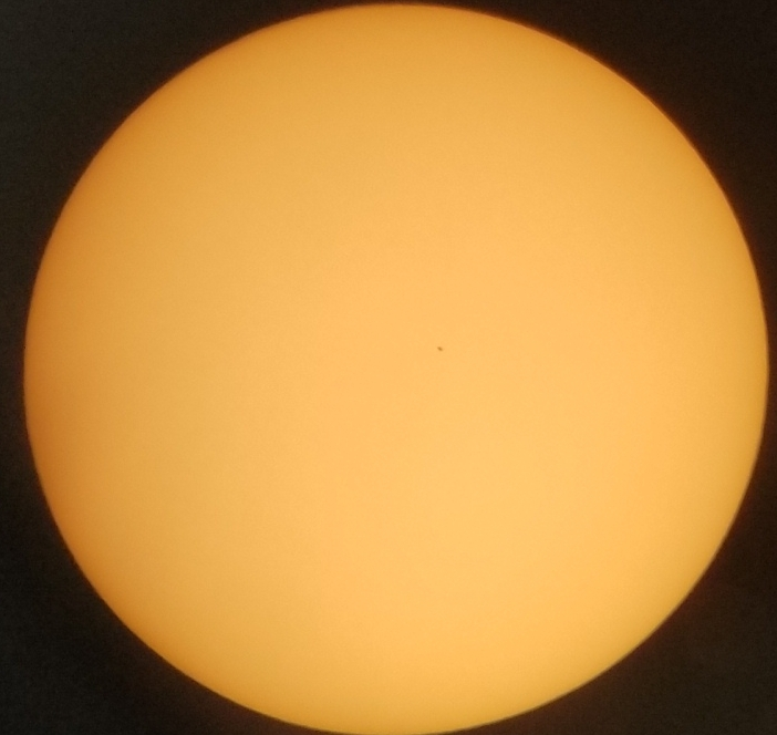 Shows Mercury's transit across the Sun