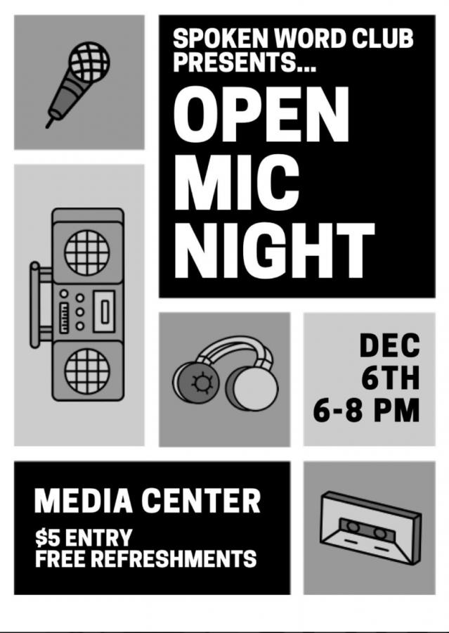 Spoken Word Club hosts fundraiser open mic night