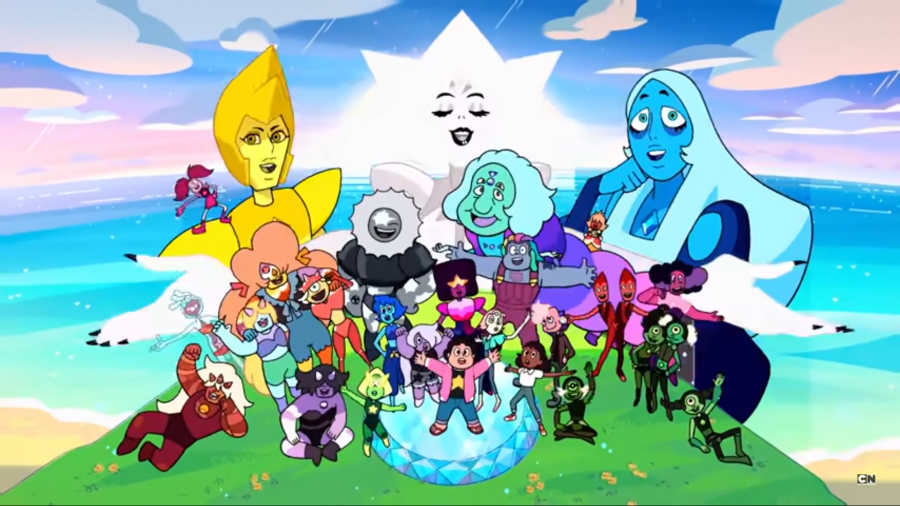 A screenshot of the Steven Universe Future title sequence