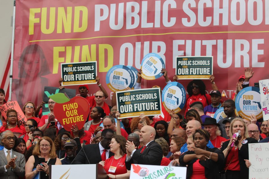 Taking on Tallahassee: Teachers rally in state capitol to demand funding for public education