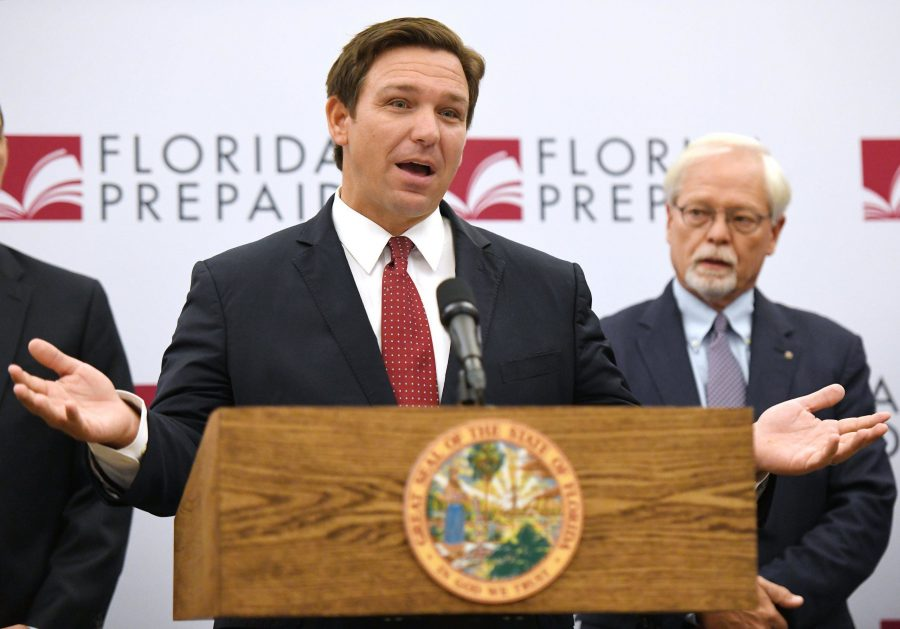 Florida Gov. Ron DeSantis made the announcement that there would be refunds coming to families that have been paying into the Florida Prepaid tuition plan since 2008 and a reduction in the costs for new enrollments. The announcement was made Monday at Florida State College in Jacksonville. [BOB SELF/FLORIDA TIMES-UNION]