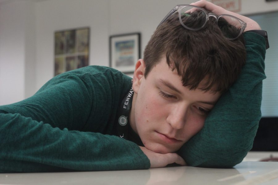 Students struggle to concentrate in school without a proper sleep pattern. Photo by Sam Grizelj