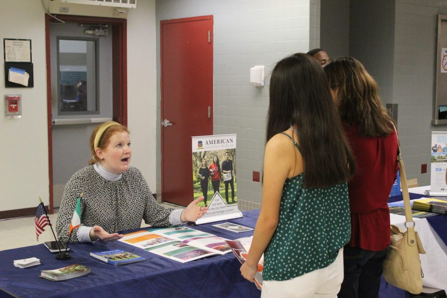 Students and parents take interest in study abroad programs in Europe.