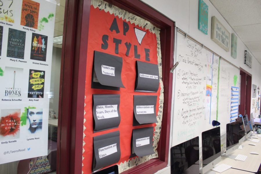 AP style decoration posters are interactive so students can get more use out of them. Photo by Darian Williams