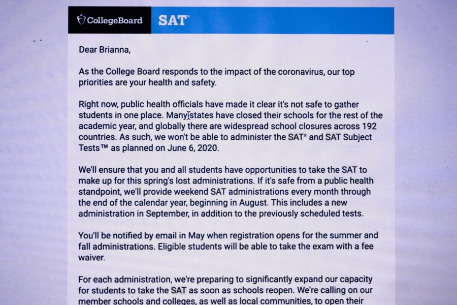 College Board cancels June SAT in light of coronavirus pandemic