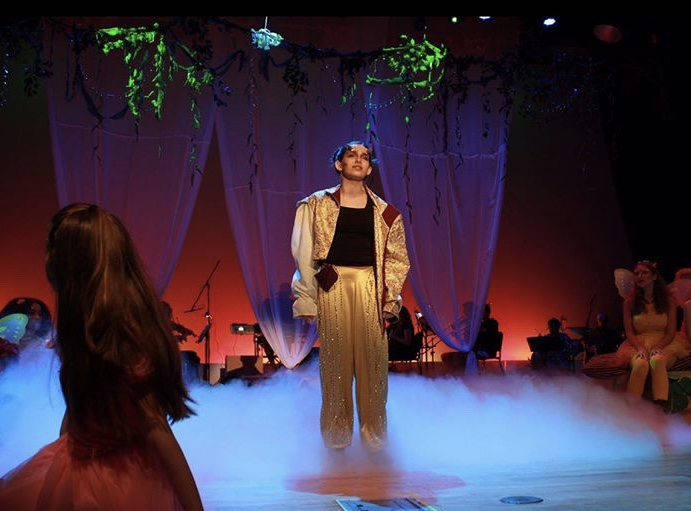 "Junior Peri Harris played Puck in MSD's production of ""A Rockin' Midsummer Night's Dream."" Photo courtesy of Peri Harris"