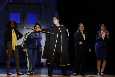 """MSD sophomore David Prengler received the Supporting Actor in a Musical Cappies Award for his role as the Headmaster in """"Imaginary: A New Musical."""" Photo by Sam Grizelj"""