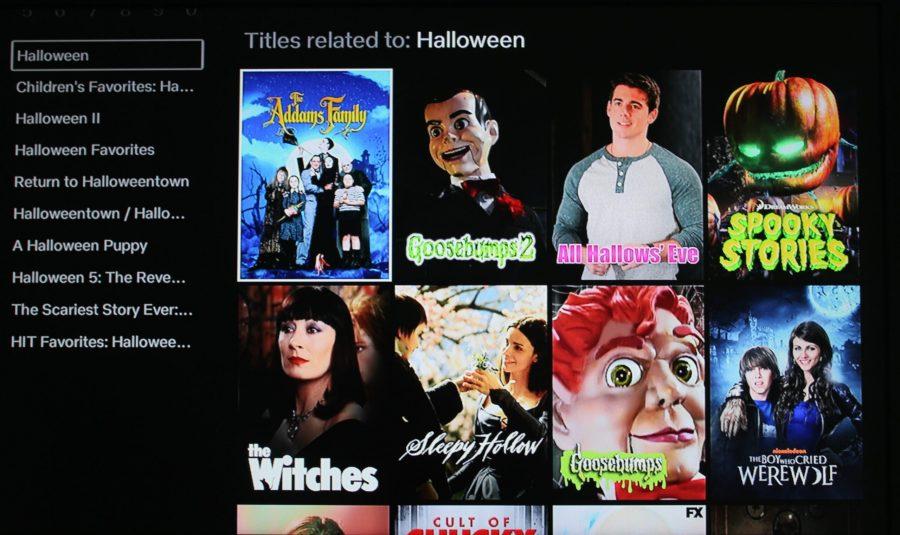 Halloween movie options on Netflix.