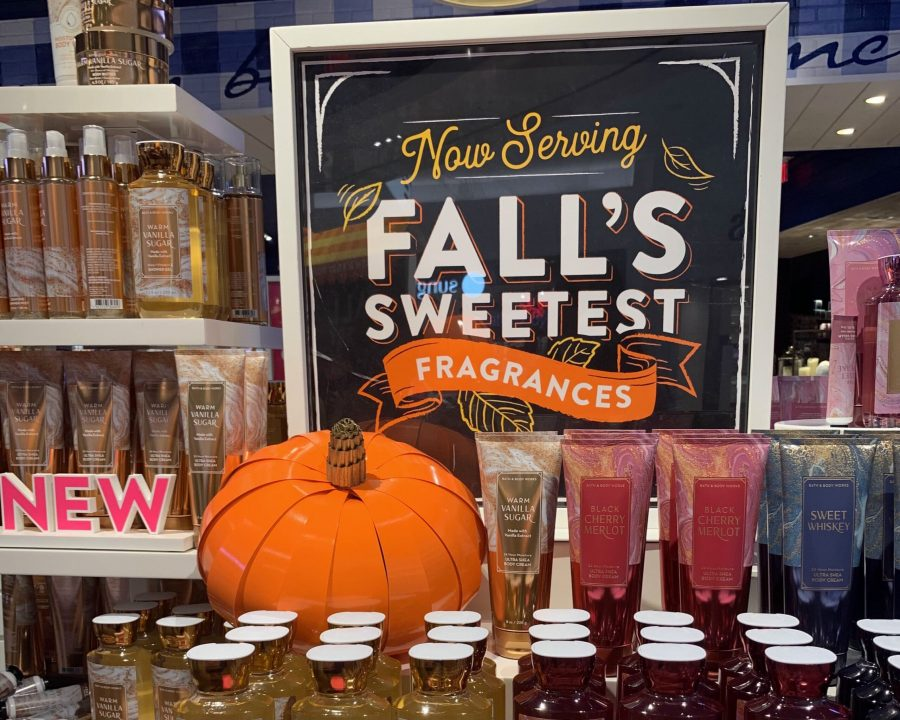 Bath and Body Works displays new fall scents. Photo courtesy of Angelina Lalchandani