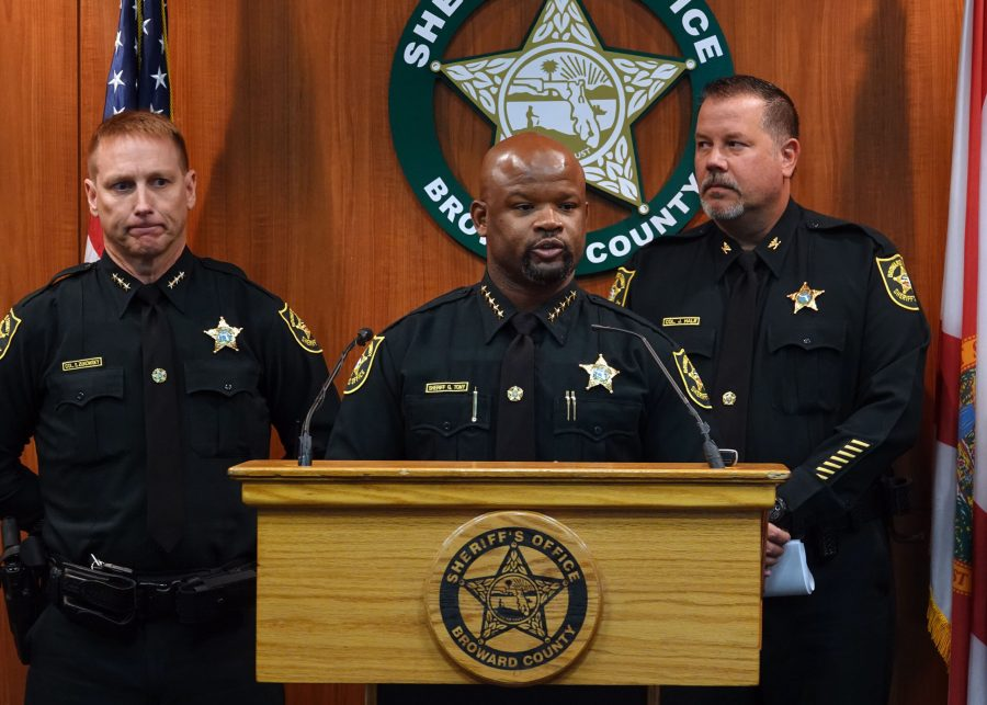 Broward Sheriff Gregory Tony announced that two additional deputies have been fired as a result of the agency's internal affairs investigation into the mass shooting at Marjory Stoneman Douglas High School in Parkland at BSO headquarters in Fort Lauderdale, Florida, on June 26, 2019. (Joe Cavaretta/Sun Sentinel/TNS)