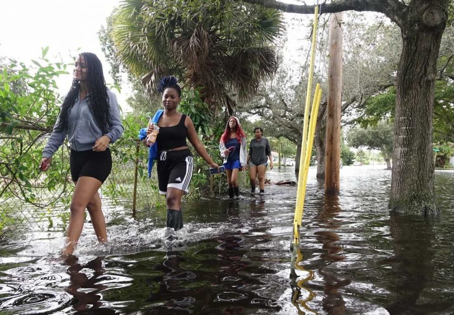 Flooding in Plantation just north of Broward Blvd. in the area of NW 46th Ave. on Monday, November 9, 2020. Tropical Storm Eta brought heavy rain and high winds to South Florida. (Photo courtesy of Joe Cavaretta/South Florida Sun-Sentinel/TNS)