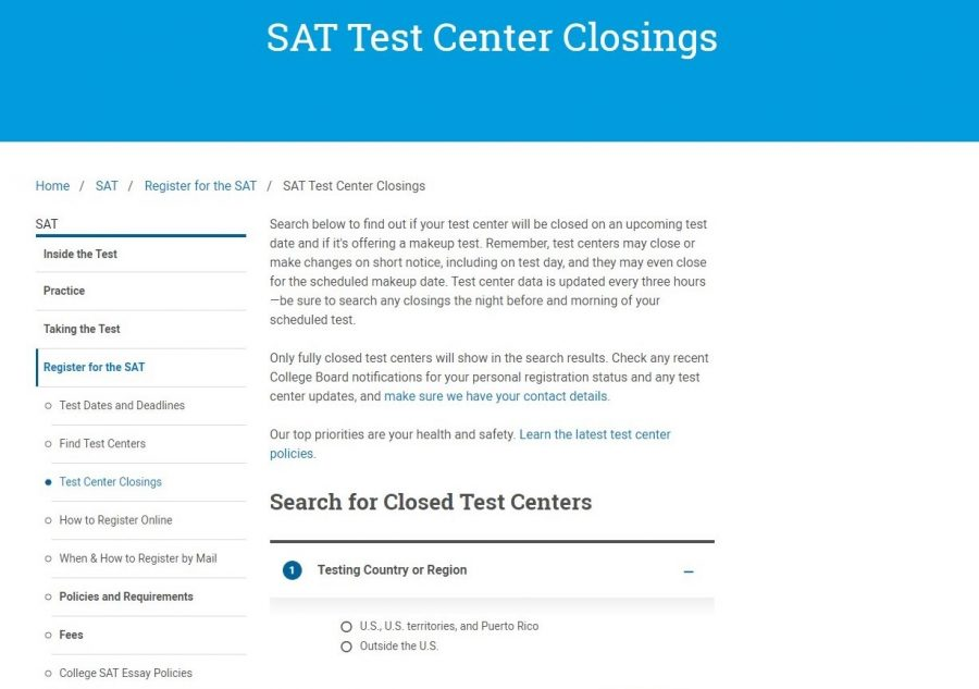 A College Board statement regarding SAT test cancellations. Photo by Iyah Ibrahim