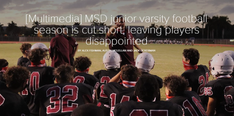 [Multimedia] MSD junior varsity football season is cut short, leaving players disappointed