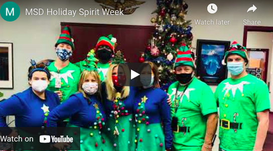 MSD hosts its annual holiday team spirit week