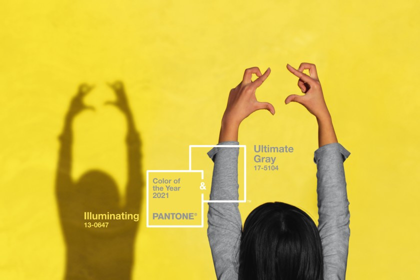 Pantone chooses 'Illuminating' and 'Ultimate Gray' as the 2021 Colors of the Year