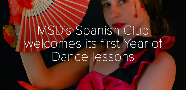 MSD's Spanish Club hosts virtual dance lessons due to the ongoing COVID-19 pandemic.