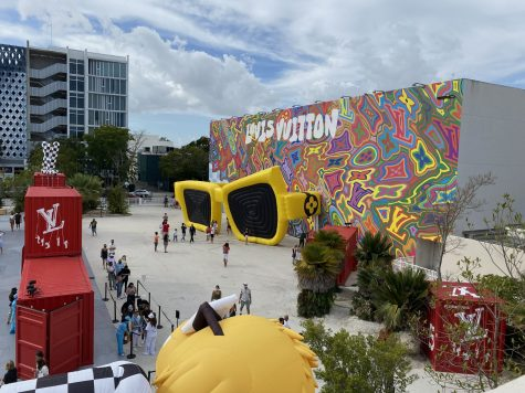The Louis Vuitton pop-up exhibition in Miami Design District. Photo by Dana Masri