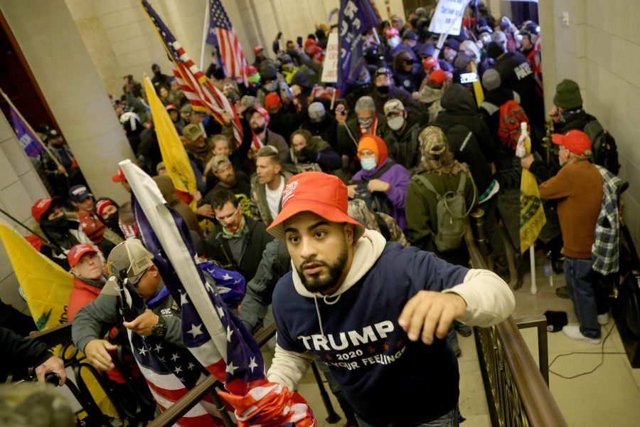 A pro-Trump mob enters the U.S. Capitol Building on Jan. 6 in Washington, D.C. Photo courtesy of Win McNamee/Getty Images/TNS