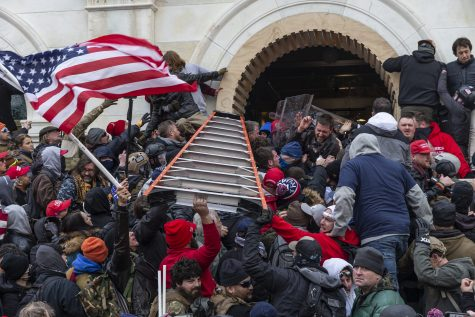 Rioters clash with police during the Jan. 6 insurrection at the U.S. Capitol in Washington, D.C. (Lev Radin/Pacific Press via ZUMA Wire/TNS)