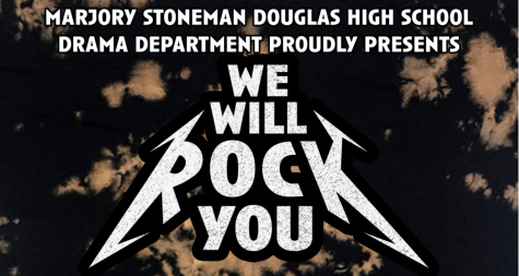 "The MSD drama department created their ""We Will Rock You"" poster based off of inspiration from the musical's original promotional posters. The show was pre-recorded and then streamed live for those with tickets to watch. Graphic courtesy of MSD Drama"