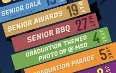 Flyer announcing the end-of-year events for seniors. Photo courtesy of MSD Student Government Association