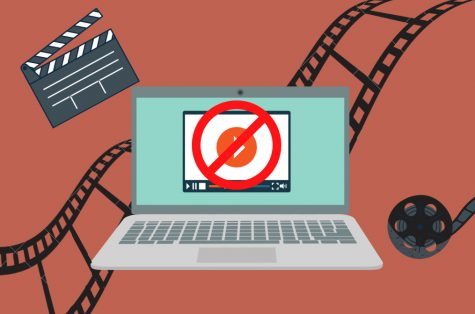 Many websites stream pirated movies and television shows, creating competition with legal streaming websites. Graphic by Hannah Kang