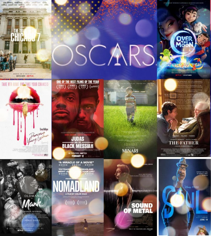 "On April 25, 2021, the 93rd OSCARS took place at the Union Station in Los Angles California. Films nominated for the award for Best Picture include ""Nomadland,"" ""The Father,"" ""Mank,"" ""Judas and the Black Mesiah,"" ""Minari,"" ""Promising Young Women"" and ""Sound of Metal."" Films like the animated feature ""Soul"" by Disney"